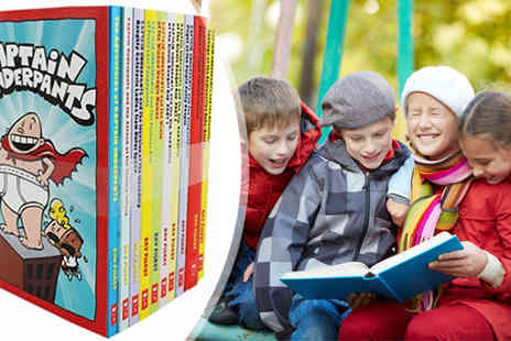 Lowplex - Captain Underpants Children 10 Books Set Collection - Save 71%
