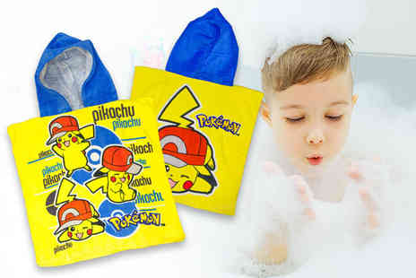 Dream Price Direct - Kids Pokemon hooded towel poncho - Save 70%