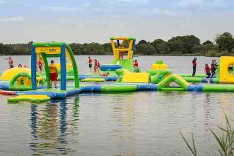 Cotswold Country Park & Beach - One hour on the Wibit Aquaventure course, car parking, all day access to park and beach for two - Save 33%