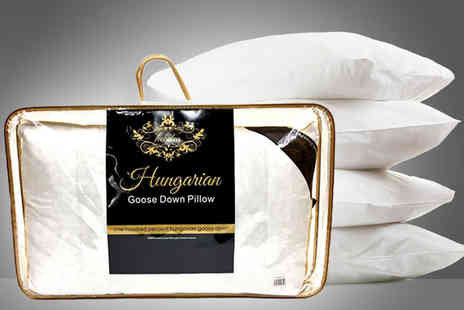 Home Furnishings Company - Luxury 100% white Hungarian goose down pillow - Save 72%