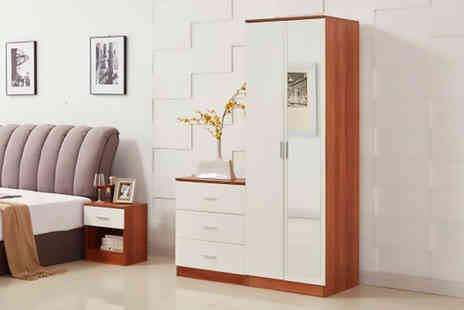Dreams Living - Three piece white bedroom furniture set - Save 62%