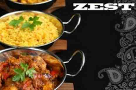 Zest Indian - Two Course Indian Meal For Two - Save 59%