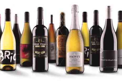 Virgin Wines Online - 12 bottles of wine of red, white or mixed case - Save 68%