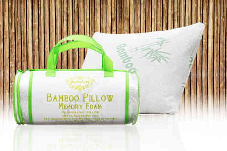 Home Furnishings Company - Roll pack bamboo memory foam pillow - Save 69%