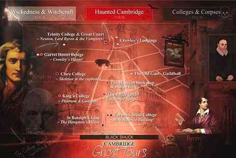 Buyagift - Entry for two adults and two children to your choice of Cambridge Ghost Tours - Save 0%
