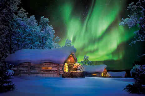 Crystal Travel - Three or four night Lapland Hotel and Glass Igloo stay with breakfast and flights - Save 22%