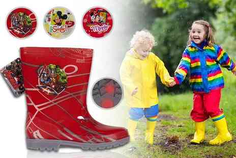 Dream Price Direct - Pair of kids Disney inspired Led wellies - Save 53%
