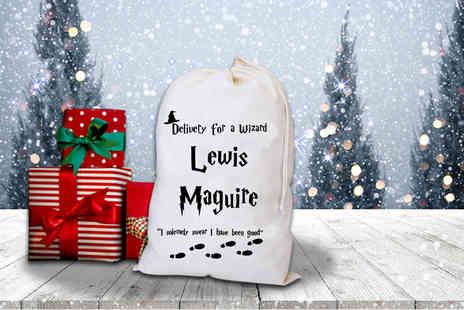 Treats on Trend - Personalised Harry Potter inspired Christmas sack - Save 68%
