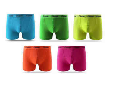 Stitch Trading - Pack of 12 mens coloured boxers - Save 40%