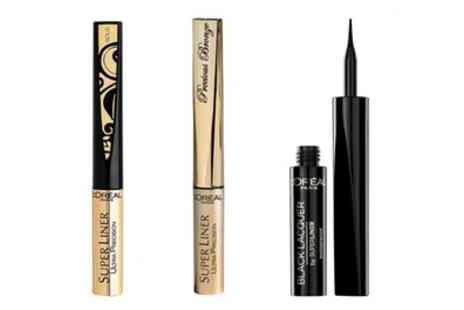 Groupon Goods Global GmbH - Three Pack of LOreal Super Liner Ultra Precision Eyeliners - Save 67%