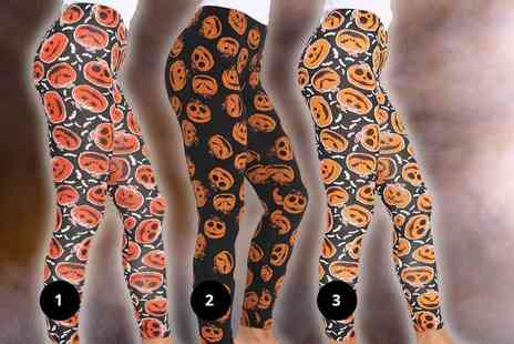 Verso Fashion - Pair of Halloween leggings choose from three styles - Save 73%