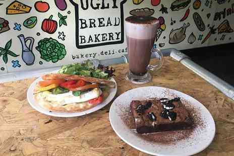 Ugly Bread Bakery - Mezzaluna, brownie and choice of hot drink - Save 0%