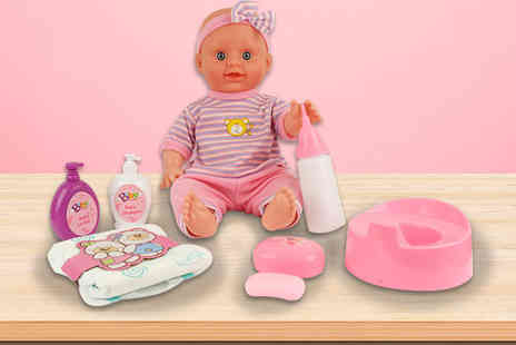 Toys Wizard - Interactive Baeller baby doll with nursery play set - Save 67%