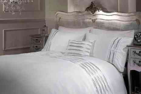 Groupon Goods Global GmbH - Rapport Home Crystal Duvet Cover Set or Cushion Cover in Choice of Colour - Save 33%