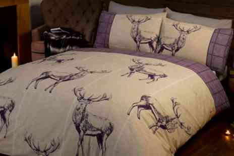 Groupon Goods Global GmbH - Stag Duvet Set in Choice of Colour and Size - Save 63%