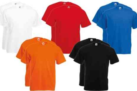Groupon Goods Global GmbH - 10 Fruit of the Loom Mens TShirts - Save 0%