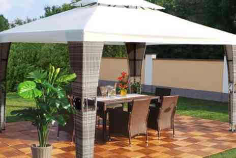 Groupon Goods Global GmbH - Royal Rattan Gazebos in Choice of Colour With Free Delivery - Save 0%