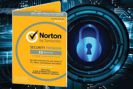 Software Link - Norton Security 3.0 Premium 10 Devices 1 Year 2018 Version - Save 51%