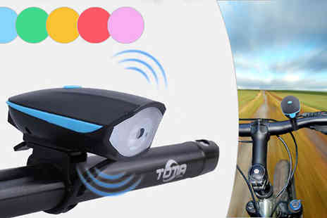 Black Sheep Limited - 2 in 1 Led Bike Light and Horn Choose 5 Colours - Save 67%