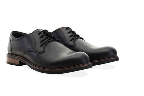 Shoeprimo - Pair of mens derby shoes choose from stylish black or tan - Save 79%