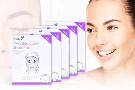 Cheeky Box - Ten wrinkle care sheet masks - Save 73%