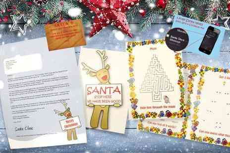 Xmas Letters - Personalised Santa letter, Santa Stop Here sign, texts, certificate and activity pack plus free delivery - Save 75%