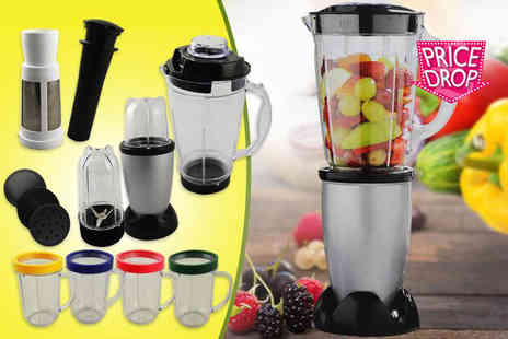 Direct 2 Publik - 17 piece multi purpose blender set - Save 72%