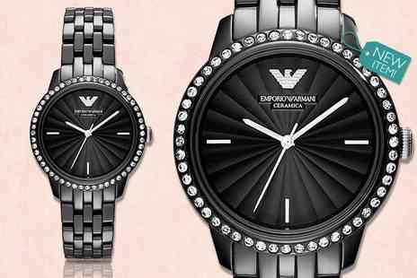 Gray Kingdom - Ladies Emporio Armani Ceramica AR1478 watch - Save 53%