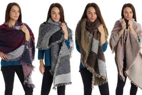 Groupon Goods Global GmbH - One, Two, Three or Four Oversized Scarves - Save 75%