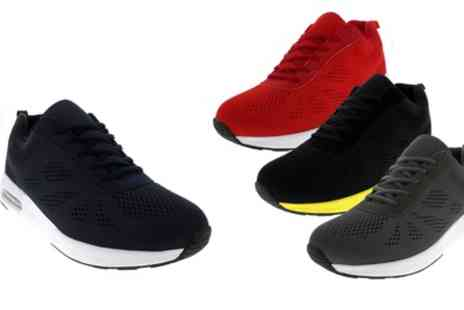 Groupon Goods Global GmbH - Mens Cushioned Mesh LaceUp Running Trainers in Choice of Colour - Save 0%