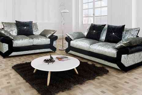 Groupon Goods Global GmbH - Lucia Scatter Back Sofa Set With Free Delivery - Save 55%
