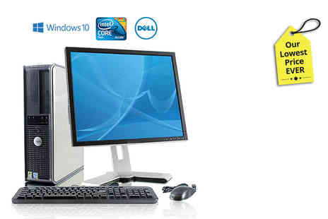 WJM Tech - Dell 755 Core 2 Duo with 160GB HDD and 17 inch monitor - Save 82%