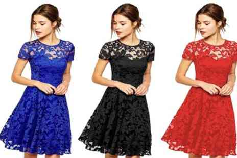 Groupon Goods Global GmbH - Floral Lace Dress - Save 0%