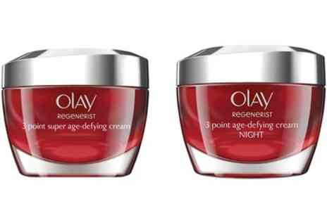 Groupon Goods Global GmbH - Olay Regenerist 50ml Age Defying Day or Night Moisturiser, or Both - Save 50%