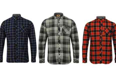 Groupon Goods Global GmbH - Tokyo Laundry Mens Checked Cotton Flannel Shirt - Save 40%