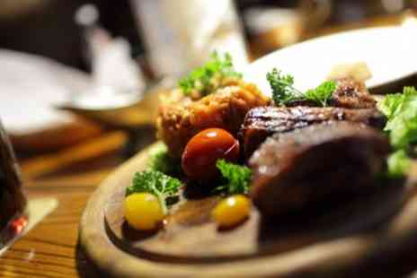 The Hayloft - Steak Meal with Wine for Two or Four - Save 56%