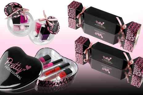 Groupon Goods Global GmbH - Pretty Cosmetics Christmas Bauble, Cracker, Tin or Bundle - Save 50%