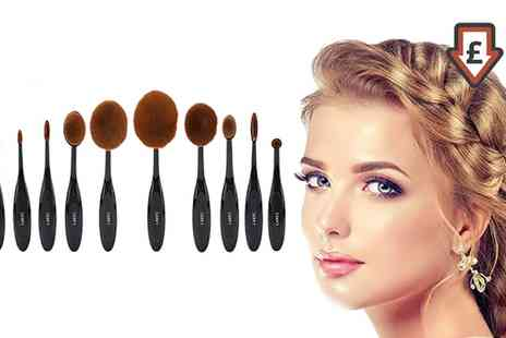 Groupon Goods Global GmbH - LaRoc Five or Ten Piece Oval Brush Set - Save 50%