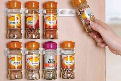 Groupon Goods Global GmbH - 20, 40 or 60 Cabinet Spice Clips Organizer - Save 75%