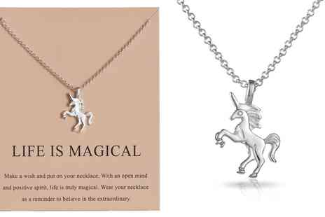 Groupon Goods Global GmbH - One or Two Philip Jones Unicorn Necklaces - Save 79%
