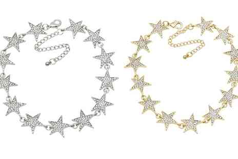 Groupon Goods Global GmbH - One or Two Star Chokers with Crystals from Swarovski - Save 82%