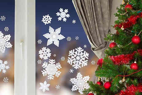 Ckent - 20 frosted snowflake window stickers - Save 67%