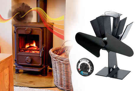 Qualtex - Heat powered fan for a wood or coal burning stove - Save 64%