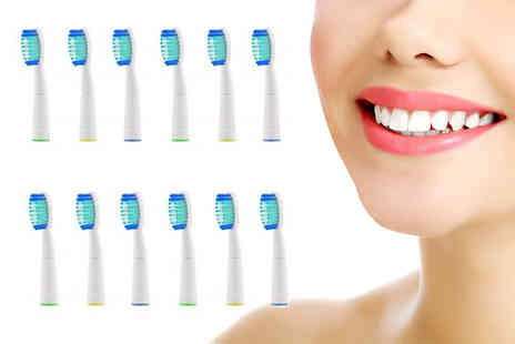 MoraClean - 12 Oral B compatible toothbrush heads - Save 0%