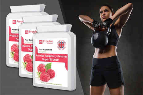 Prowise Healthcare - A months supply of super strength raspberry ketones or three months supply - Save 69%