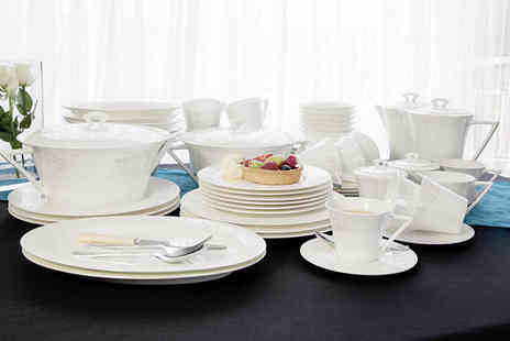 Buttercup China - 24, 34 or 56 piece china dinner set - Save 51%