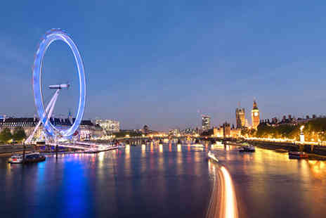 City Cruises - Thames cruise for two people including a four course dinner, glass of bubbly, bottle of wine to share and dancing - Save 51%