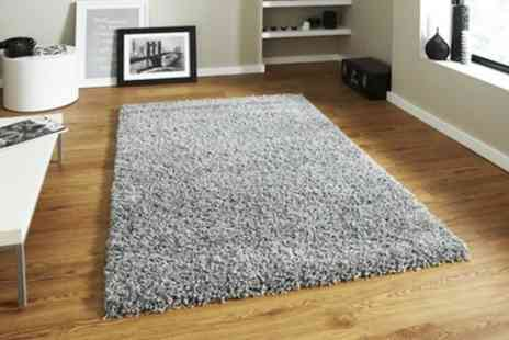 Groupon Goods Global GmbH - Modern Shaggy Rug in Choice of Colour - Save 57%