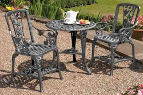 Groupon Goods Global GmbH - Three Piece Bistro Furniture Set With Free Delivery - Save 60%