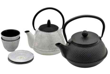 Groupon Goods Global GmbH - Rinkit Japanese Tetsubin Cast Iron Hobnail Teapot or Teapot and Cup Set - Save 0%